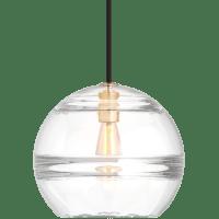 Sedona Large Pendant Clear Aged Brass 2700K 90 CRI LED med base t14 90 CRI 2700k 120v