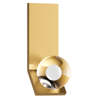 Mina Wall natural brass 3000K 90 CRI LED 90 CRI 3000k 120v