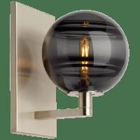 Sedona Wall Transparent Smoke Satin Nickel no lamp