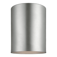 Outdoor Cylinders One Light Outdoor Flush Mount Painted Brushed Nickel Bulbs Inc