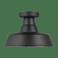 Barn Light One Light Outdoor Flush Mount - Black Bulbs Inc
