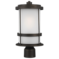 Wilburn One Light Outdoor Post Lantern Antique Bronze Bulbs Inc