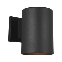 Outdoor Cylinders Small One Light Outdoor Wall Lantern Black Bulbs Inc