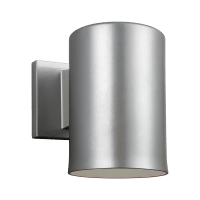 Outdoor Cylinders Small One Light Outdoor Wall Lantern Painted Brushed Nickel Bulbs Inc