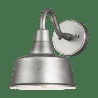 Barn Light Small One Light Outdoor Wall Lantern Weathered Pewter Bulbs Inc