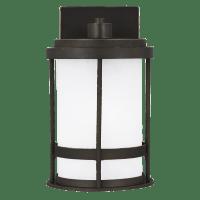 Wilburn Small One Light Outdoor Wall Lantern Antique Bronze Bulbs Inc Dark Sky