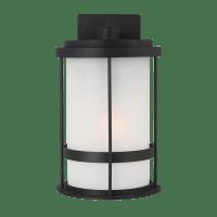 Wilburn Medium One Light Outdoor Wall Lantern Black