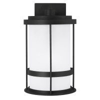Wilburn Medium One Light Outdoor Wall Lantern Black Bulbs Inc Dark Sky