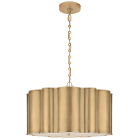 Markos Large Hanging Shade in Gild with Frosted Acrylic