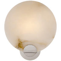 Iveala Single Sconce in Polished Nickel with Alabaster Shade