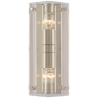 Clayton Wall Sconce in Crystal and Polished Nickel