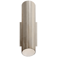 Tourain Wall Sconce in Burnished Silver Leaf with Plaster White Interior