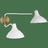 Charlton Medium Double Wall Light in White