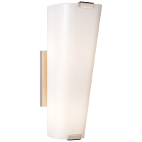Alpine Single Sconce in Polished Nickel with White Glass