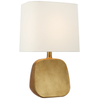 Almette Medium Table Lamp in Gild with Linen Shade