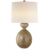 Gannet Table Lamp in Marbleized Sienna with Linen Shade