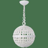 Mill Small Globe Lantern in Plaster White