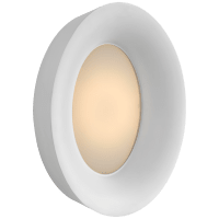 Halo Medium Oval Sconce in Matte White