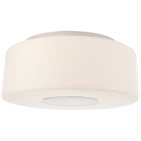 Acme Large Flush Mount in Polished Nickel with White Glass