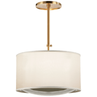 Reflection Large Hanging Shade in Soft Brass with Silk Shade