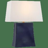 Lucera Medium Table Lamp in Denim with Linen Shade