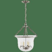 Country Large Bell Jar Lantern in Antique Nickel