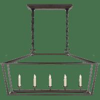 Darlana Medium Linear Lantern in Aged Iron