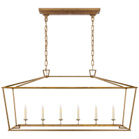 Darlana Large Linear Lantern in Gilded Iron