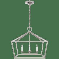 Darlana Medium Wide Lantern in Polished Nickel