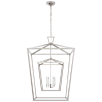 Darlana Extra Large Double Cage Lantern in Polished Nickel
