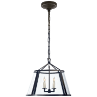 """Darlana 16"""" Pendant in Aged Iron with Clear Glass"""