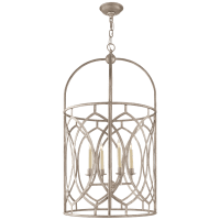 Marquise Tall Lantern in Burnished Silver Leaf
