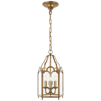 French Market Small Lantern in Gilded Iron