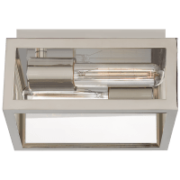 Fresno Small Framed Flush Mount in Chrome with Clear Glass