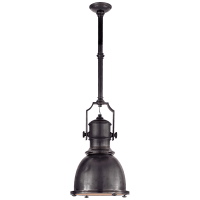 Country Industrial Small Pendant in Bronze with Bronze Shade