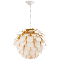 Cynara Large Chandelier in White and Gild