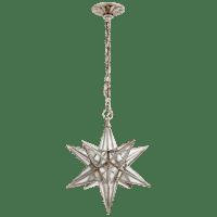 Moravian Medium Star Lantern in Burnished Silver Leaf with Antique Mirror