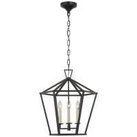 Darlana Medium Hexagonal Lantern in Aged Iron