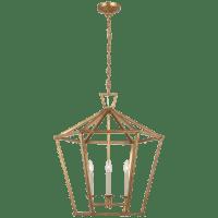 Darlana Large Hexagonal Lantern in Gilded Iron