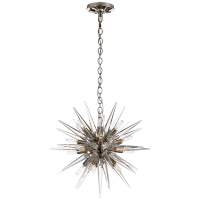 Quincy Small Sputnik Chandelier in Polished Nickel with Clear Acrylic