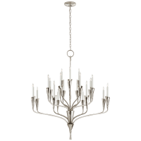 Aiden Large Chandelier in Polished Nickel