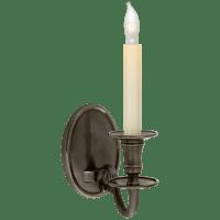 Grosvenor House Single Sconce in Bronze