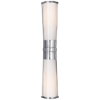 Carew Linear Sconce in Polished Nickel with White Glass