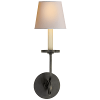 Symmetric Twist Single Sconce in Bronze with Natural Paper Shade