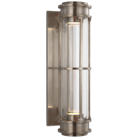 """Gracie 19"""" Linear Sconce in Antique Nickel with Clear Glass"""