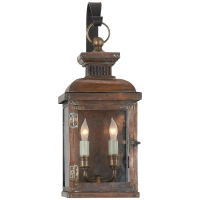 Suffork Small Scroll Arm Lantern in Natural Copper
