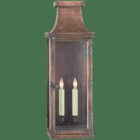Bedford Large 3/4 Lantern in Natural Copper