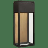 Irvine Medium 3/4 Wall Lantern in Bronze with Clear Glass
