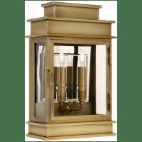 Linear Lantern Short in Antique-Burnished Brass