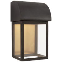 """Edgemont 13"""" Wall Sconce in Bronze with Clear Glass"""